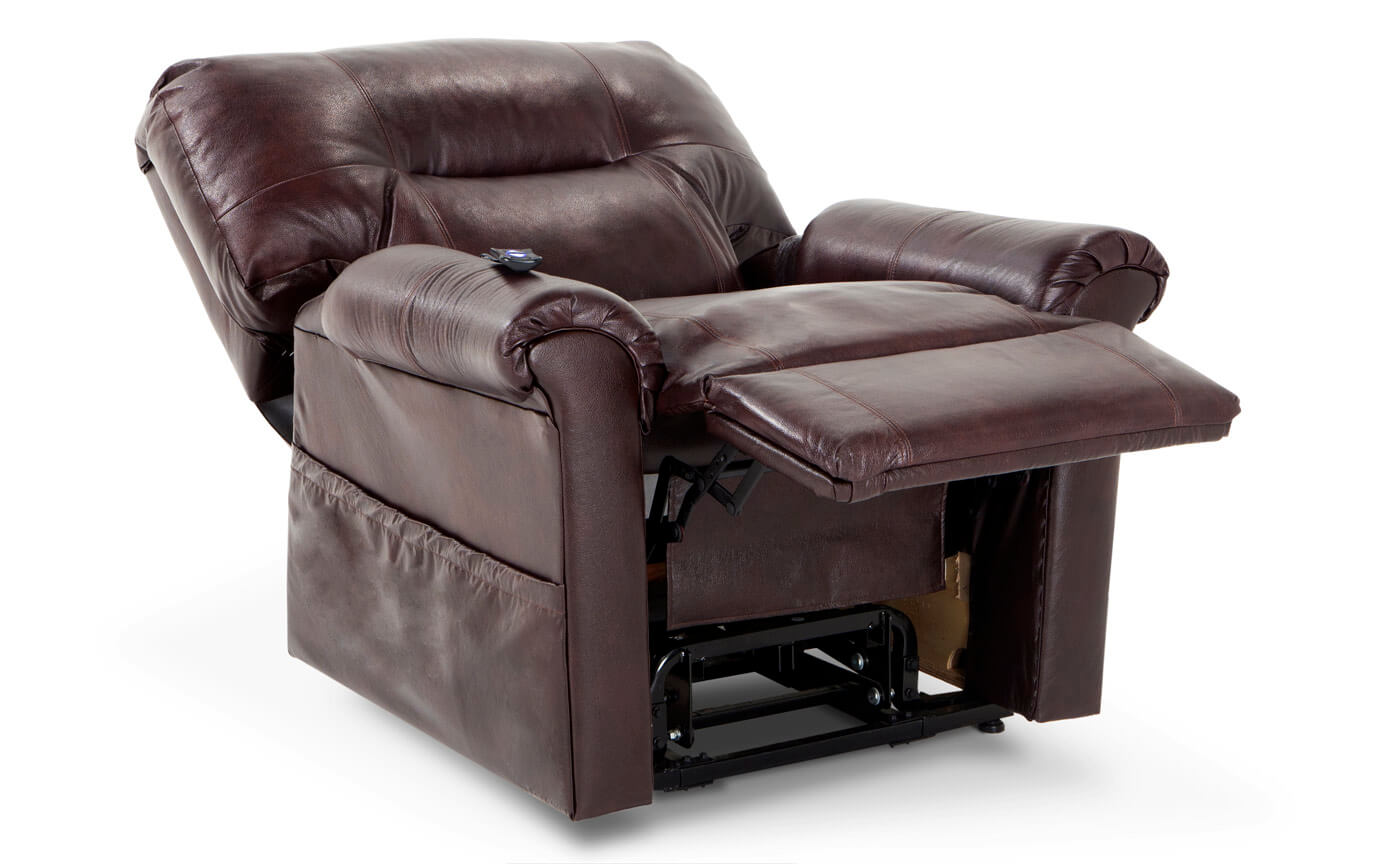 Leather Redwood Power Lift Recliner