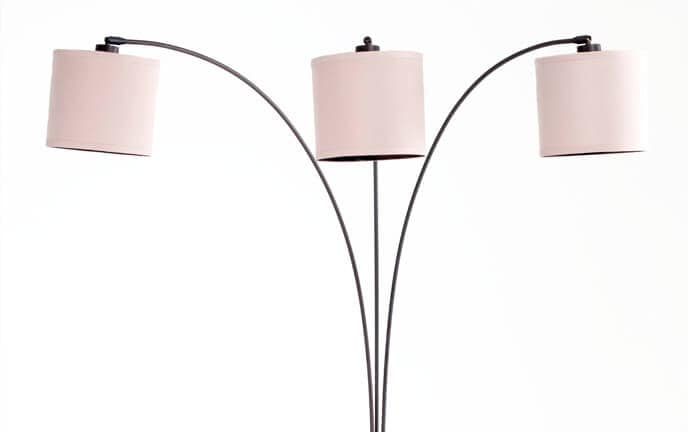 78 3 light arc floor lamp