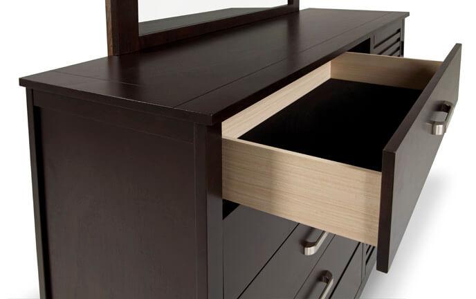 Dalton Espresso Dresser & Mirror