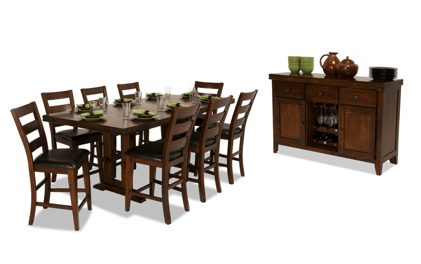 Enormous 10 Piece Counter Set with Server