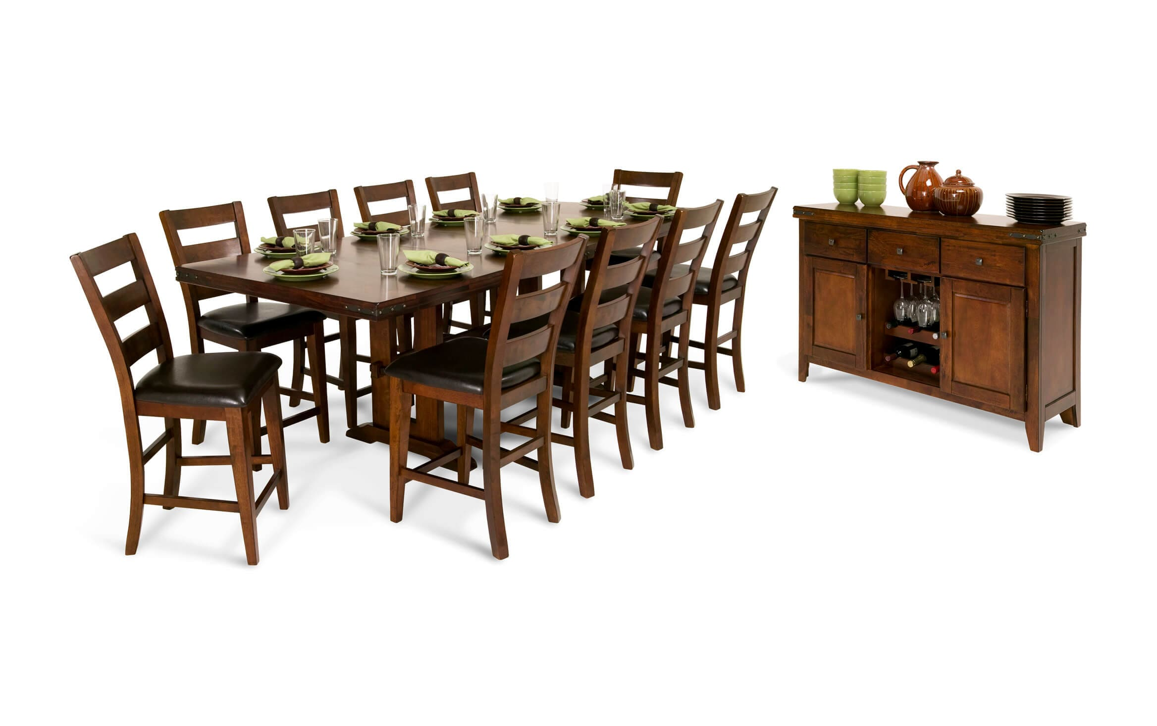 Enormous 12 Piece Counter Set With