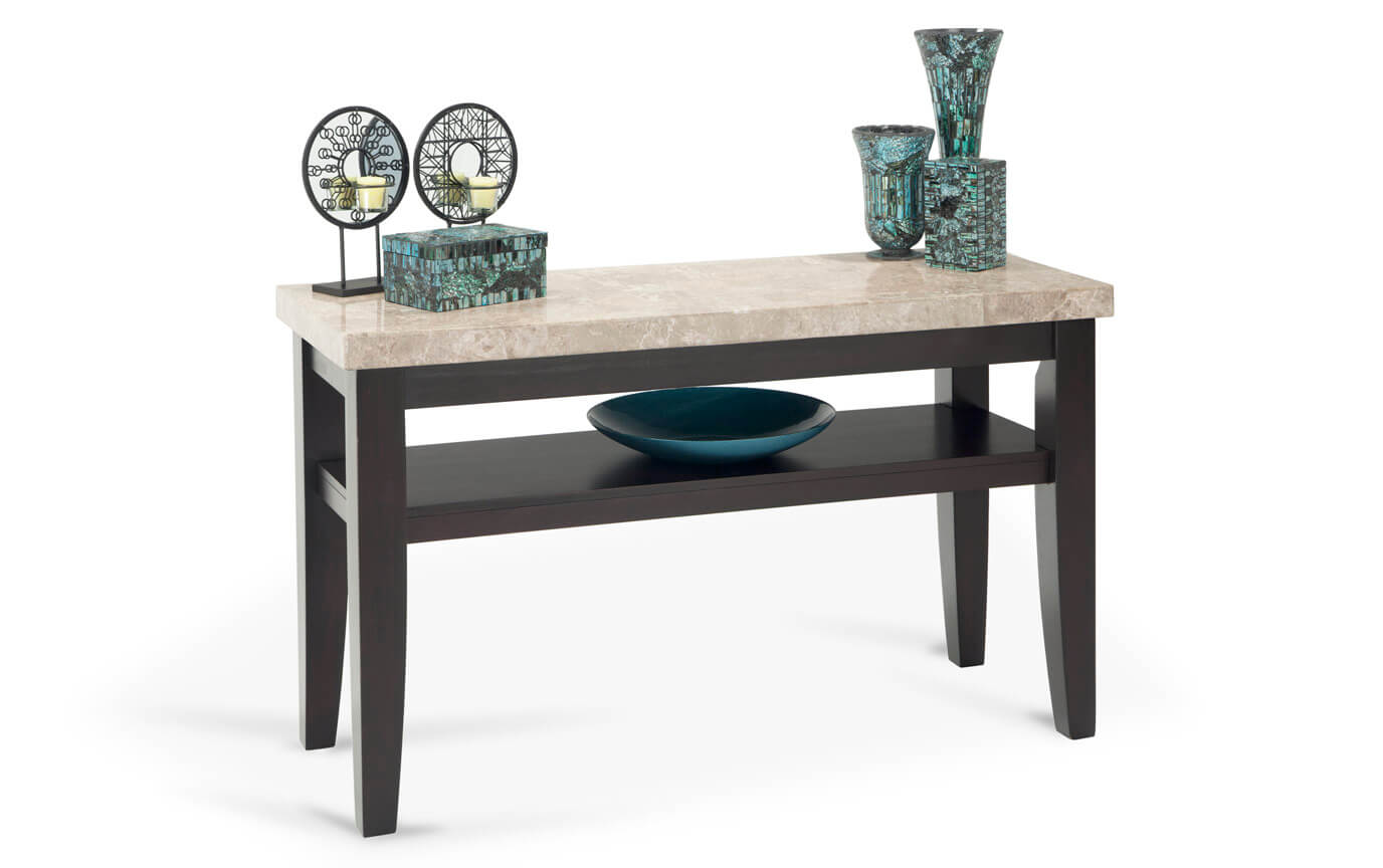 Montibello Pearl Marble Sofa Table