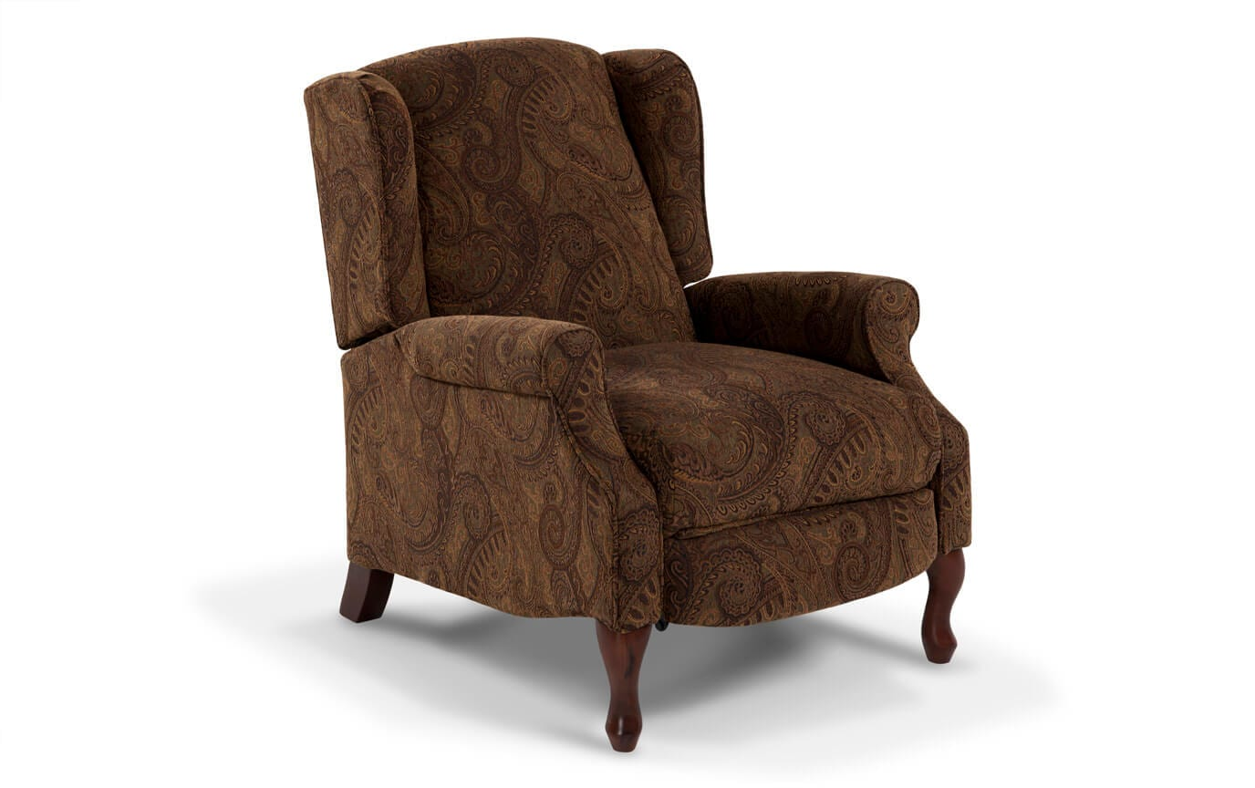 Queen Anne Push Back Accent Recliner