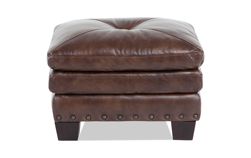 Lawrence Leather Ottoman