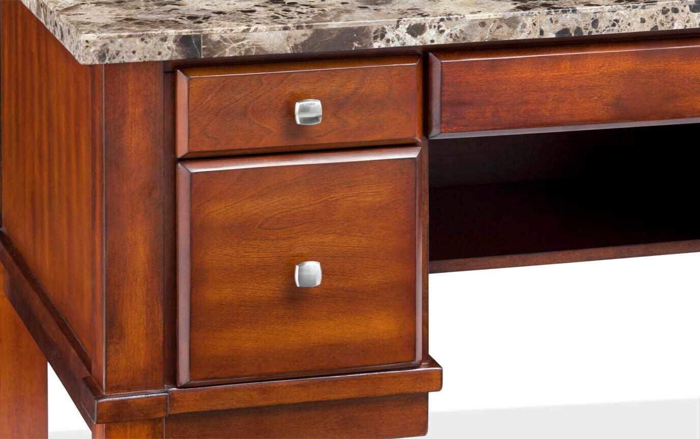 Montibello Brown Marble Desk