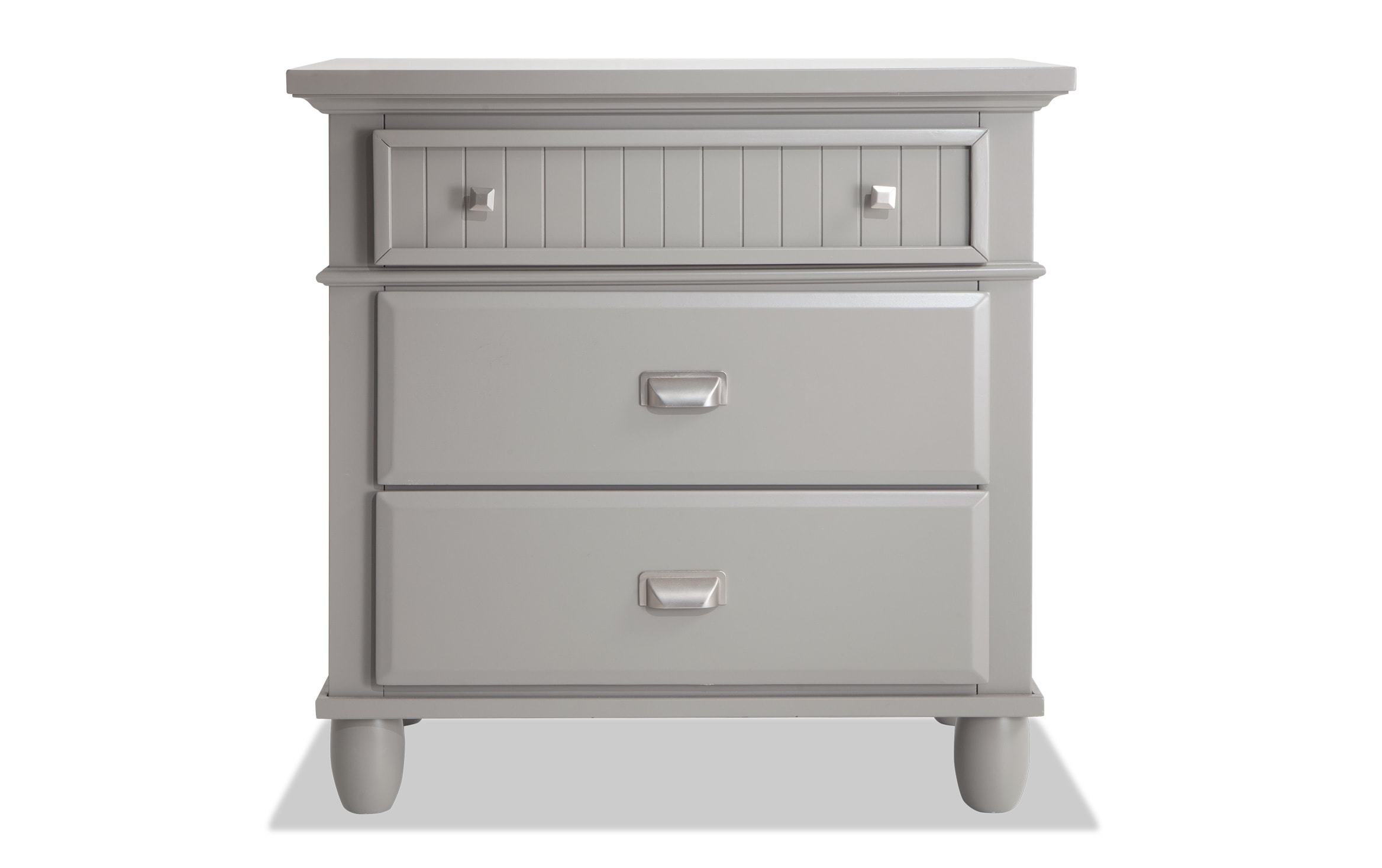 Spencer Gray Nightstand Bobs Com