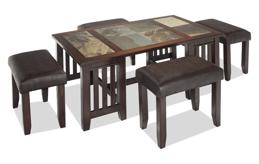 Adirondack Coffee Table Set  sc 1 st  Bobu0027s Discount Furniture : brown coffee table set - pezcame.com