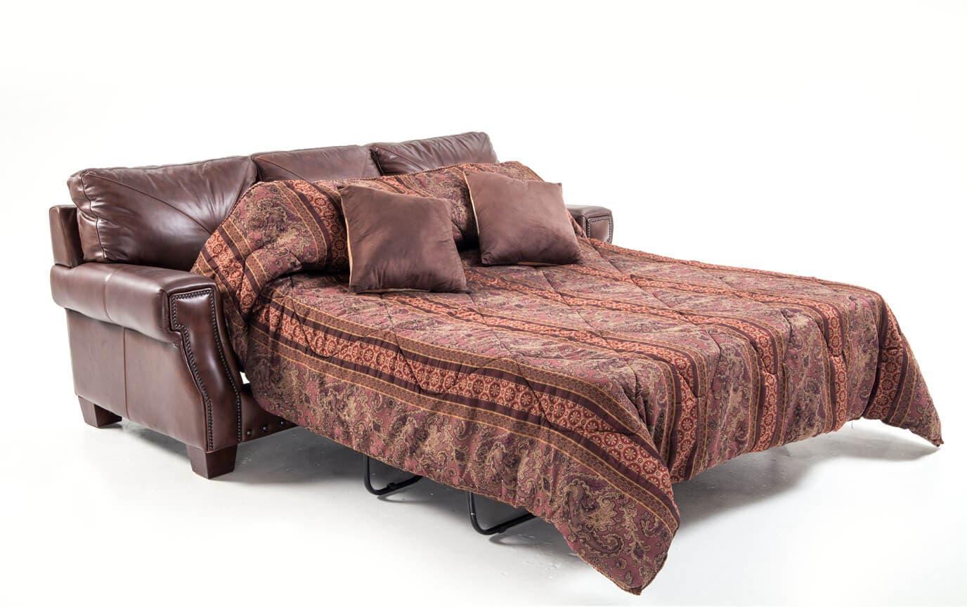Lawrence Leather Bob-O-Pedic Gel Queen Sleeper