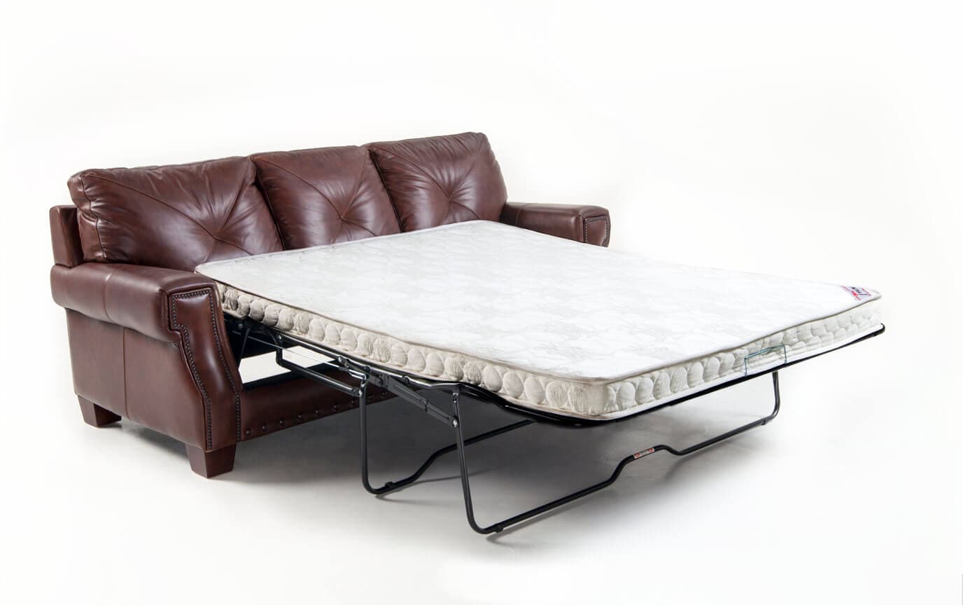 Lawrence Leather Innerspring Queen Sleeper