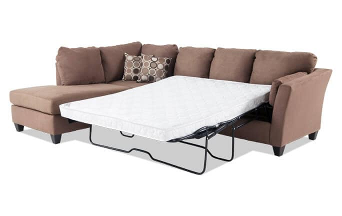 Libre II 2 Piece Right Arm Facing Innerspring Queen Sleeper Sectional