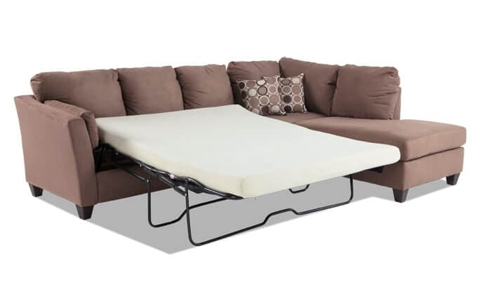 Libre II 2 Piece Left Arm Facing Bob-O-Pedic Gel Queen Sleeper Sectional