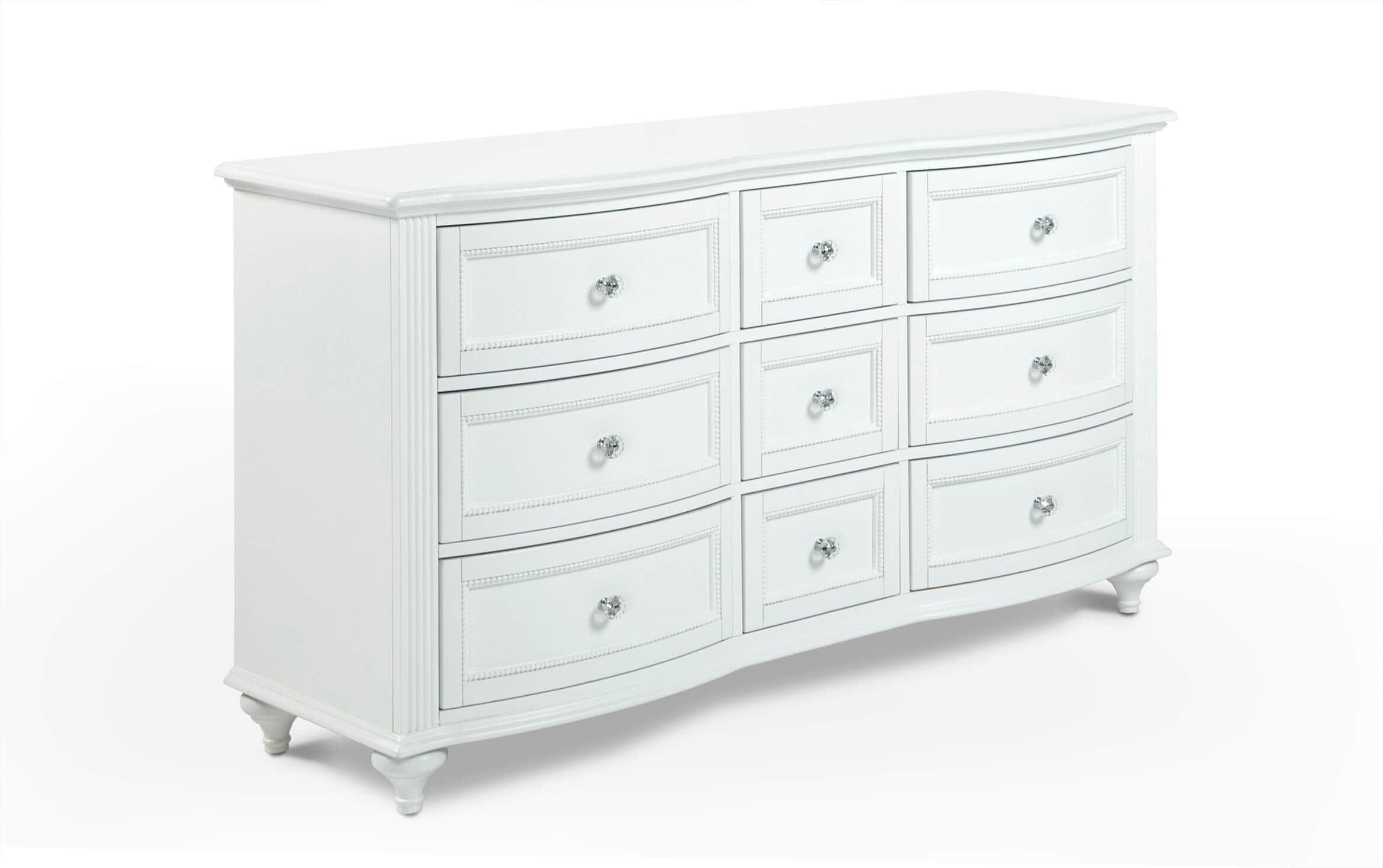 Madelyn White Dresser Bobs