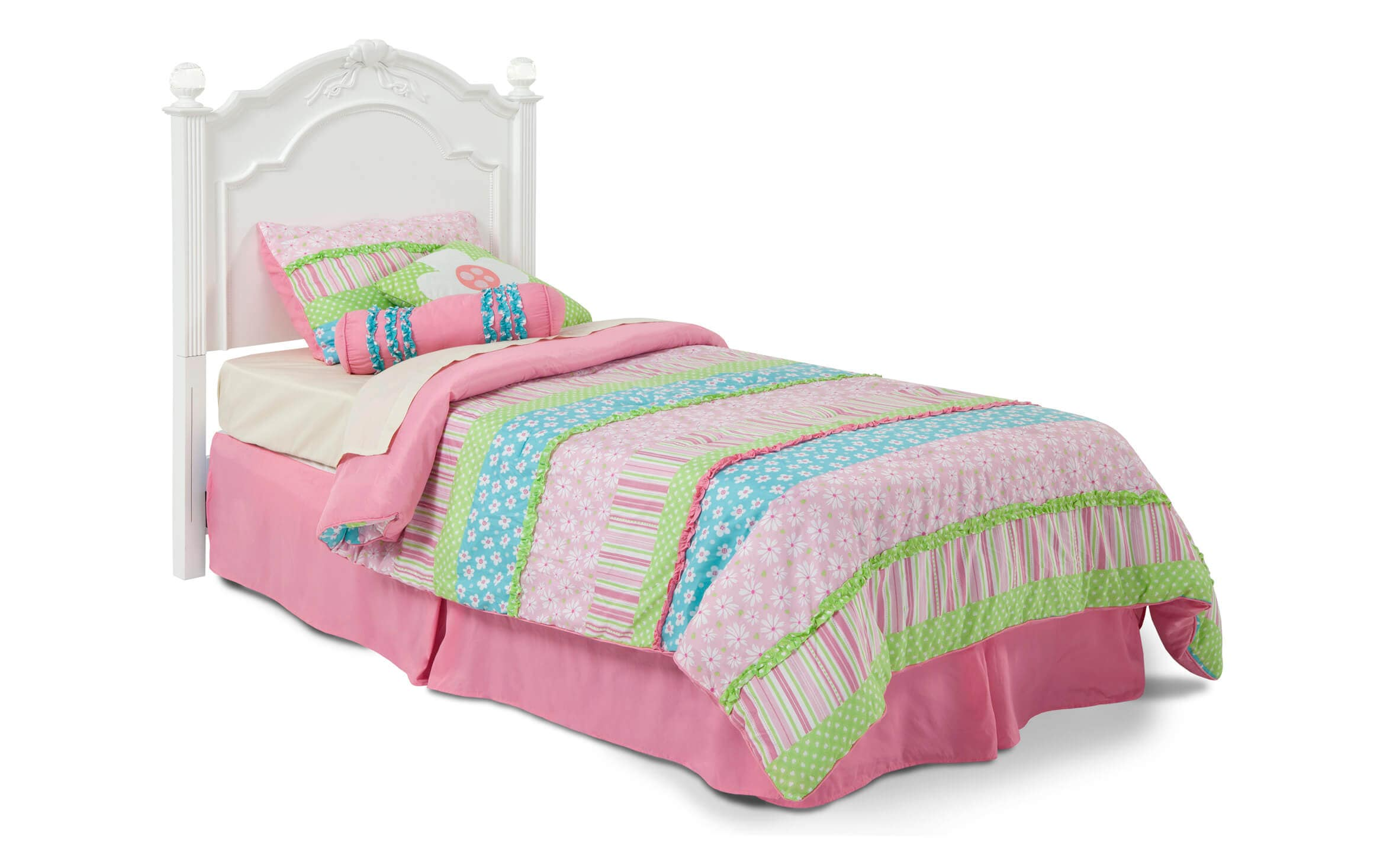 Image of: Madelyn Twin White Headboard Bobs Com