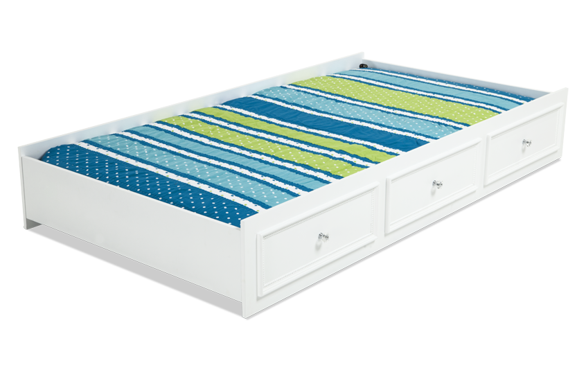 Madelyn Twin White Trundle Unit