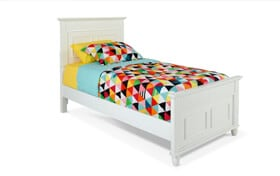 Spencer Twin White Bed
