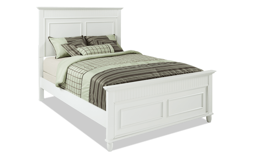 Spencer Queen White Bed