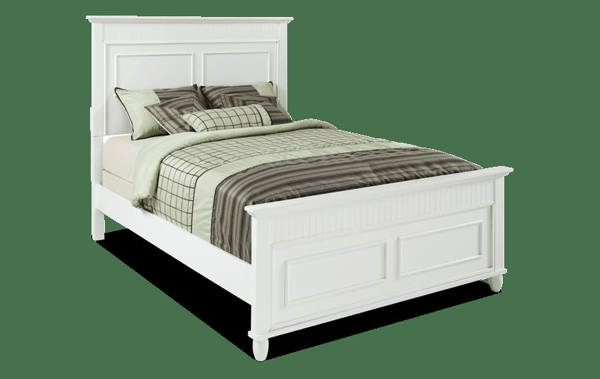 Spencer King White Bed