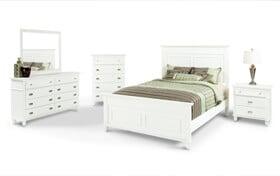 Spencer Queen White Bedroom Set