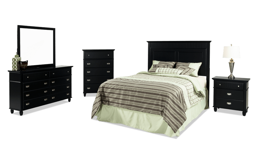 Spencer Full Black Bedroom Set