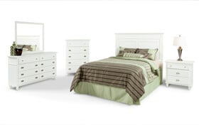 Spencer King White Bedroom Set