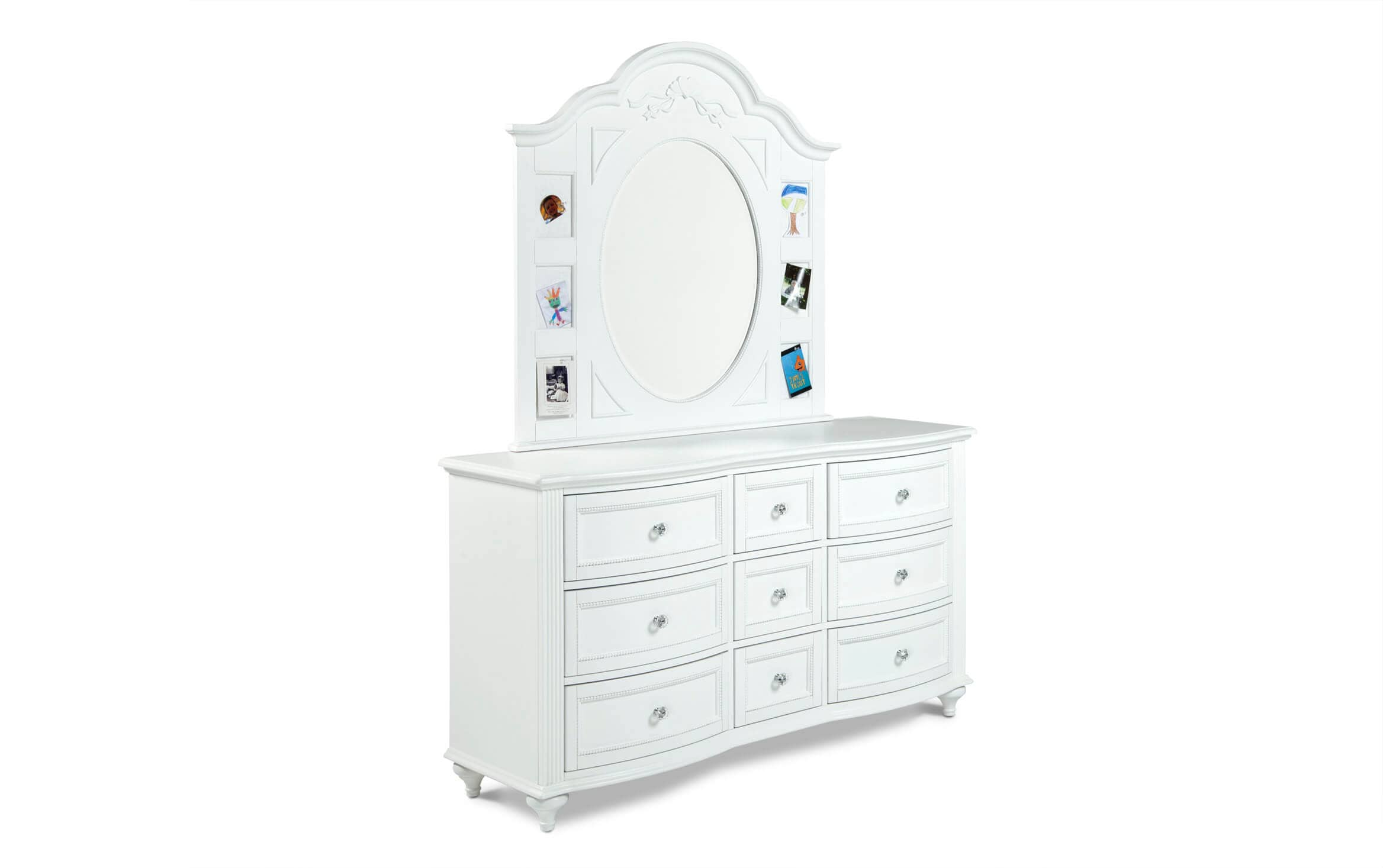 Madelyn White Dresser Mirror Bobs