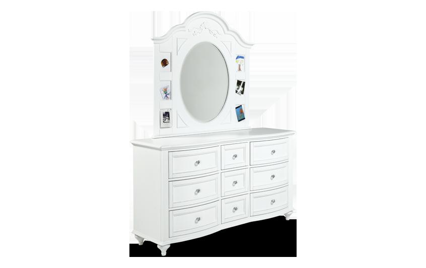 Madelyn White Dresser & Mirror