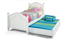 Madelyn Full White Bed With Trundle