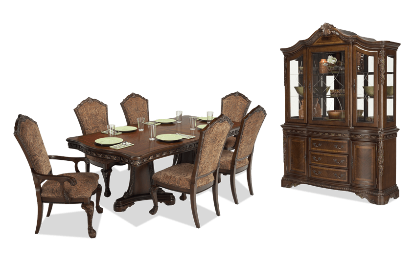 Beau Majestic 9 Piece Dining Set With China