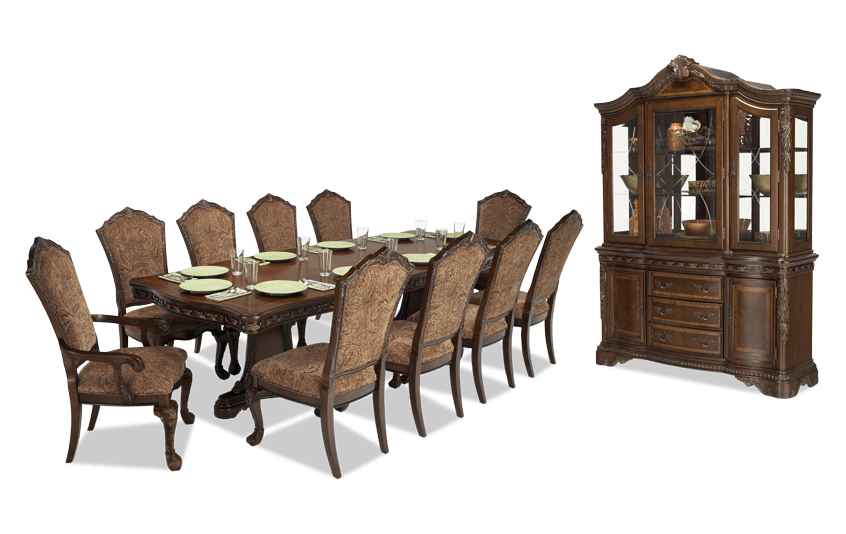 Superbe Majestic 13 Piece Dining Set With China