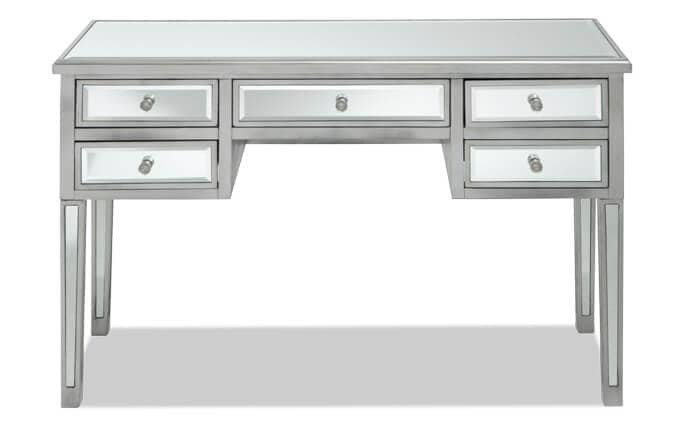 5 Drawer Mirrored Desk