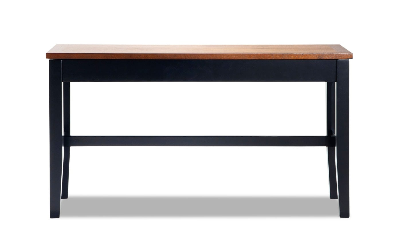 Blake Cherry & Black Counter Storage Bench