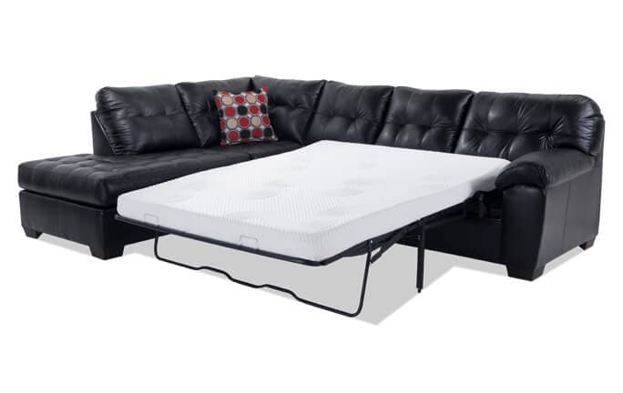 Mercury Right Arm Facing Bob O Pedic Gel Queen Sleeper Sectional