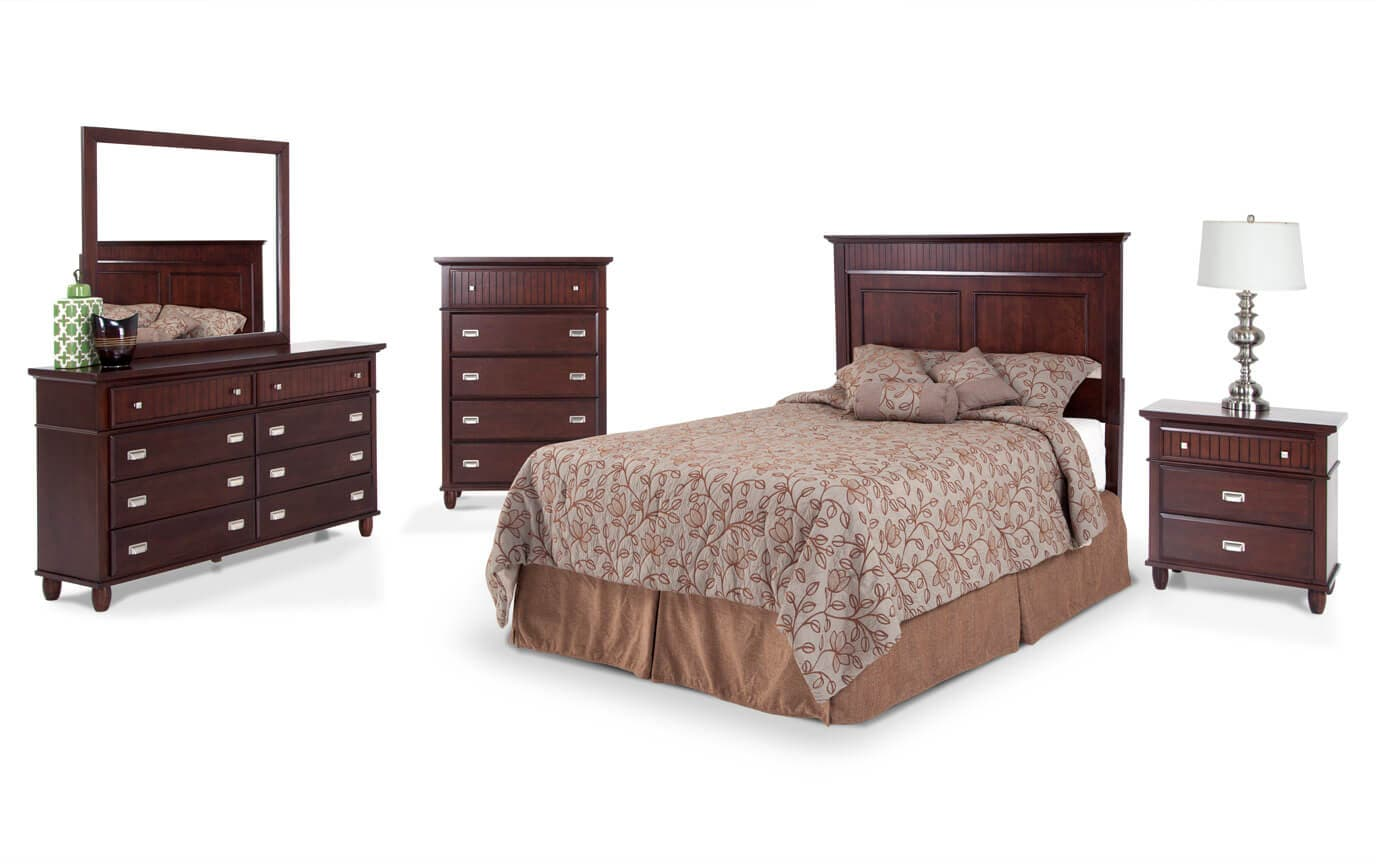 Spencer Queen Cherry Bedroom Set