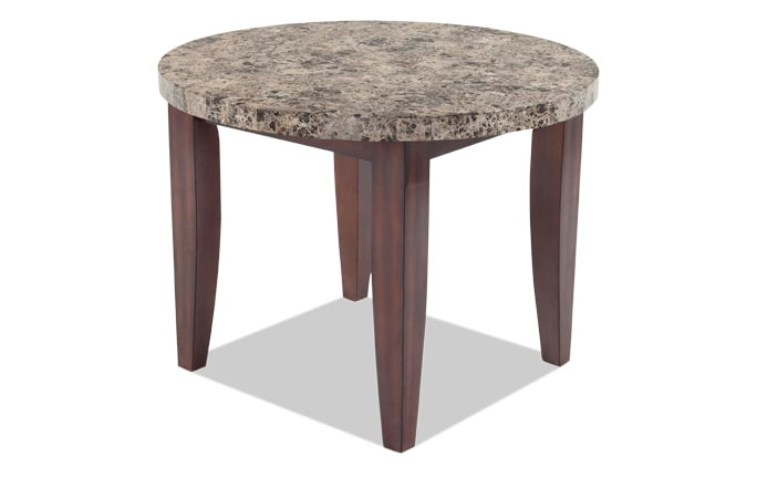 Montibello 40 round counter table bobs discount furniture montibello 40 round dining table watchthetrailerfo