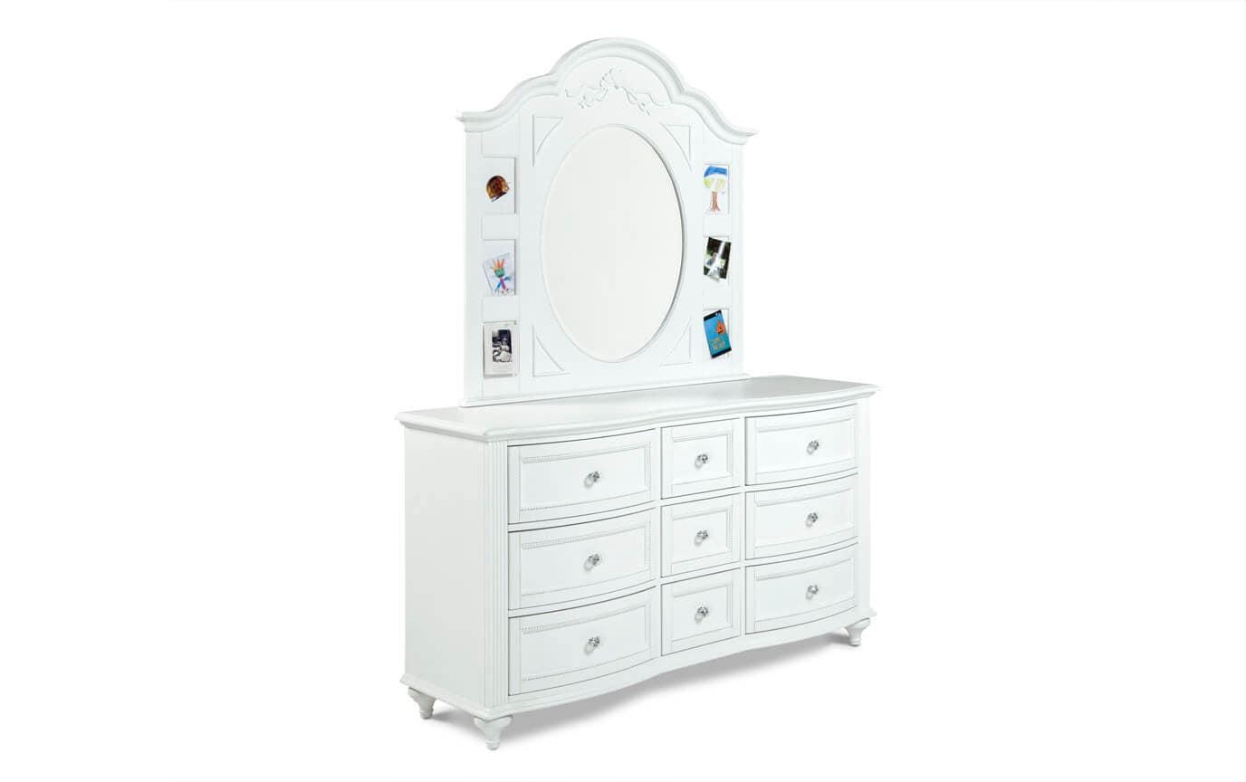 Madelyn Full White Upholstered Youth Bedroom Set