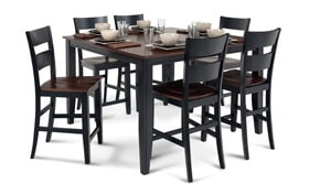 Blake Cherry & Black 7 Piece Counter Set