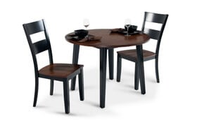 Blake Cherry & Black 3 Piece Drop Leaf Set