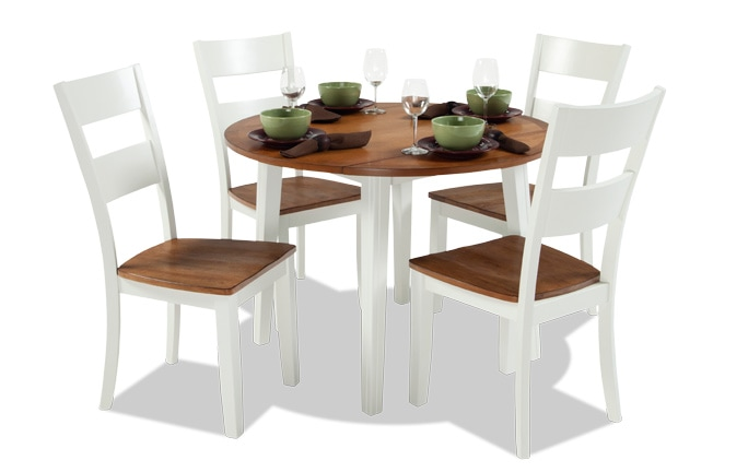 Blake Spice & White 5 Piece Drop Leaf Set