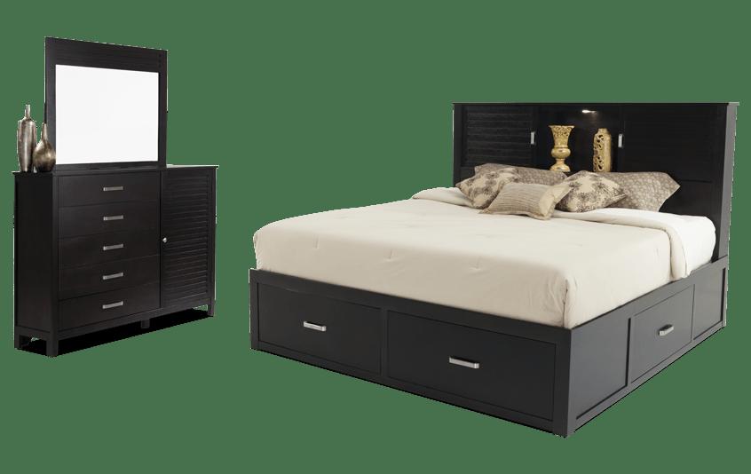 Dalton King Espresso Storage Bedroom Set