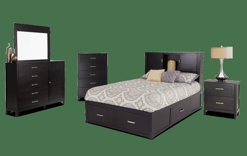 Dalton Queen Espresso Storage Bedroom Set