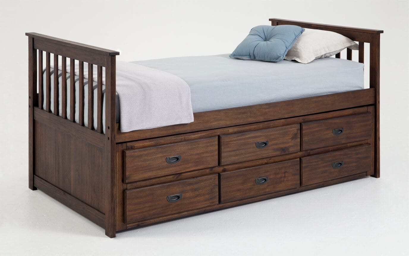 Chadwick Twin Captain Bed With Trundle Bobs Com