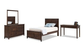 Chadwick Twin Panel Bedroom Set With Desk