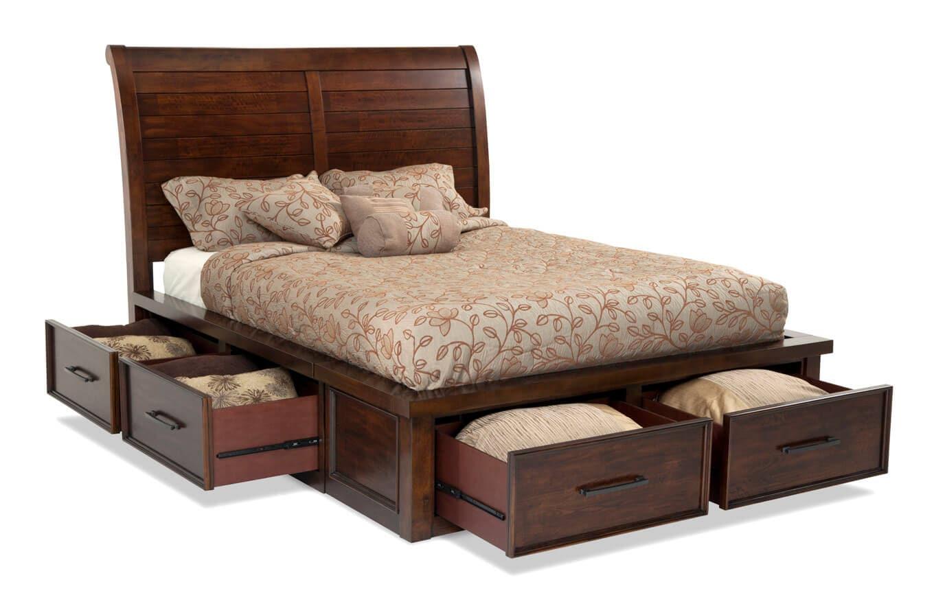 Hudson Queen Storage Bed Bobs Com
