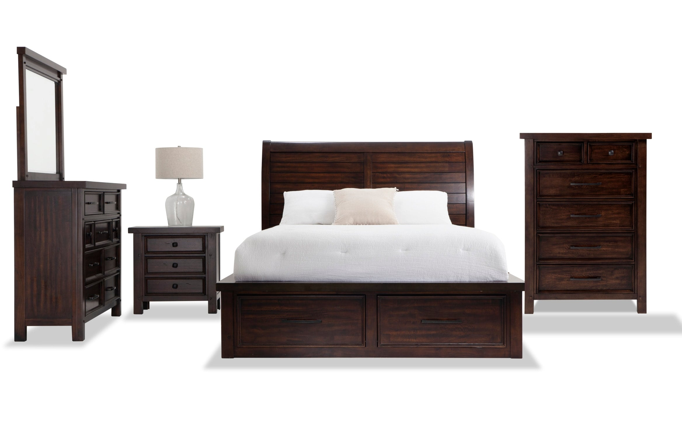 Hudson Queen Storage Bedroom Set Bobs Com