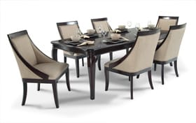 Gatsby Cherry 7 Piece Dining Set with Swoop Chairs