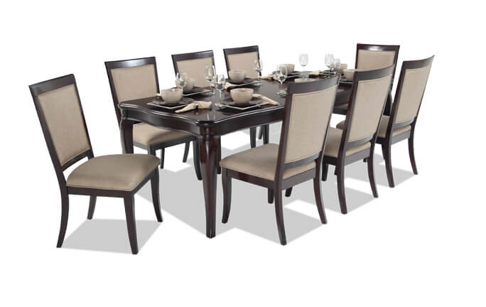 Kenzo 10 Piece Dining Set With Curio Bobs Com