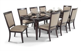 Gatsby Cherry 9 Piece Dining Set with Side Chairs