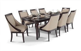 Gatsby Cherry 9 Piece Dining Set With Swoop Chairs