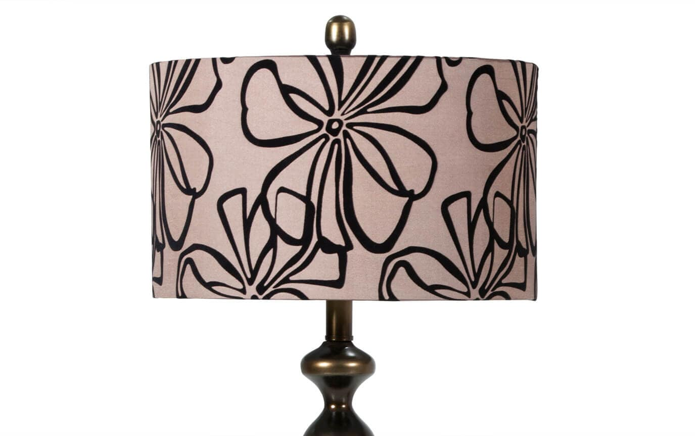 Set of 2 Brown Floral Lamps