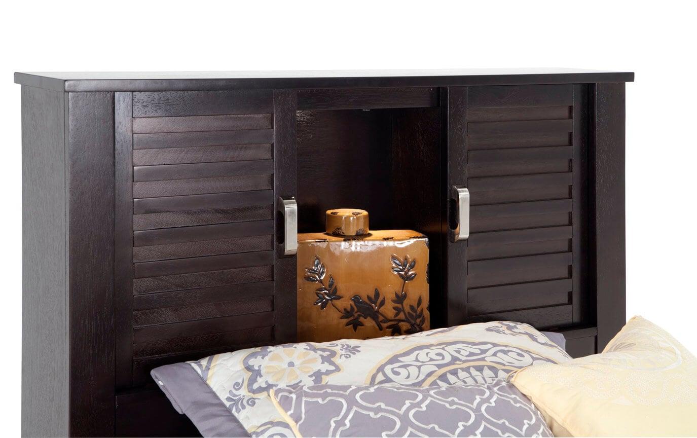 Dalton Twin Espresso Storage Bed